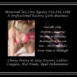 Montreal Upscale Escort Agency Montreal Sex City 514-234-1286