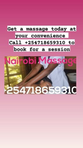 I'm offering both professional Massage and sensual massage services within Nairobi at your home or hotel room.  The sensual services can be accompanied by extras upon request. Just call or WhatsApp +254718659310 to book for a session Visit nairobimasseuse.co.ke for more information  #massage #nairobi #extras #professionalmassage #sensualmassage